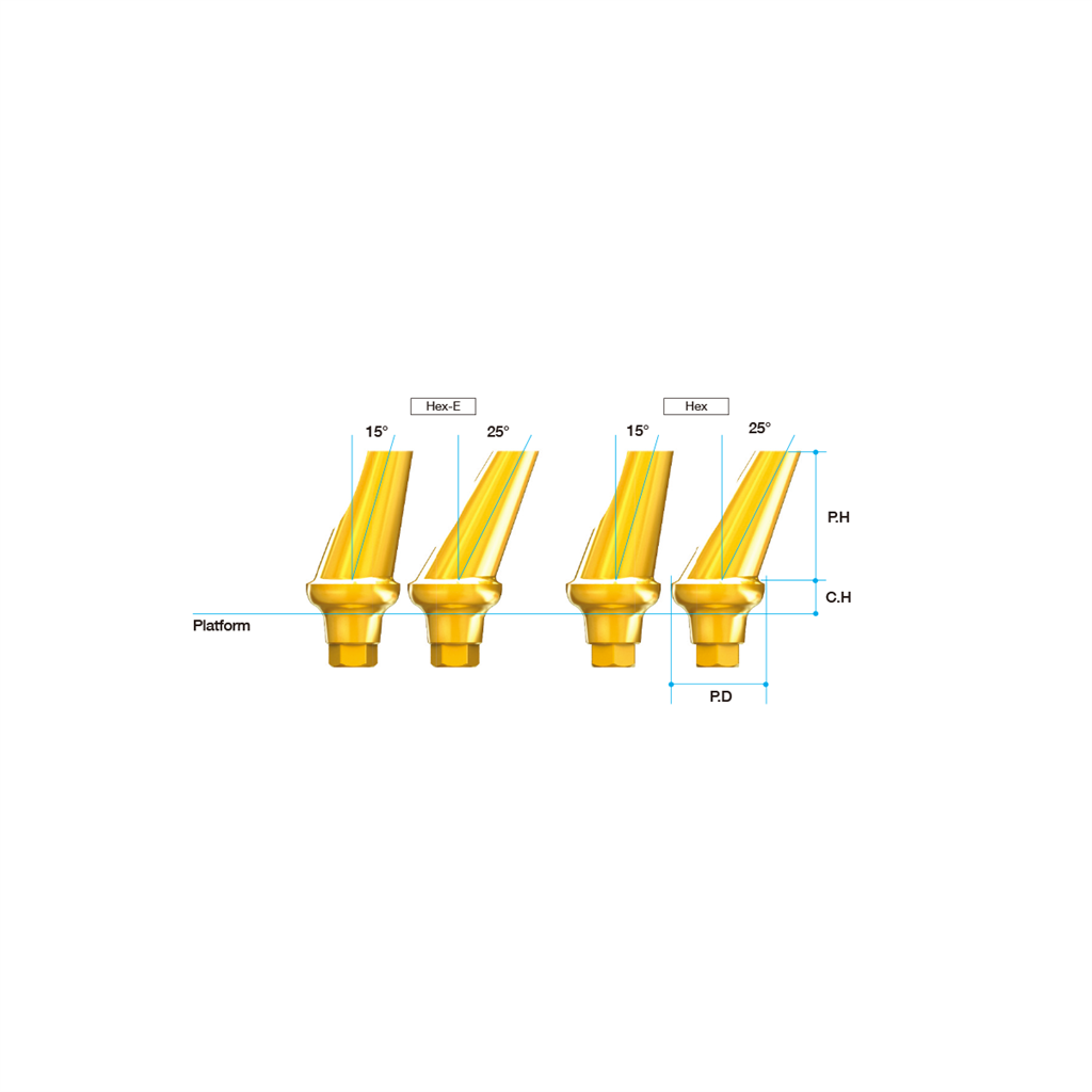 Anyridge 15° Angled Abutment (Hex) 6.0 x 5.0mm
